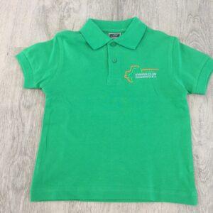 Kinder Poloshirt grün Gr. 146/152