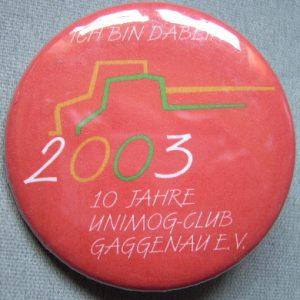 """Button """"Oberweier 2003"""" rot"""