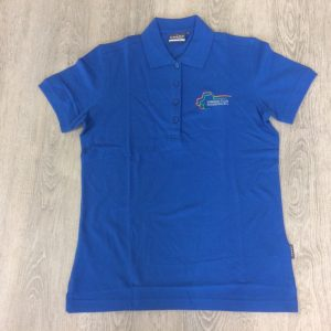 Damen Polo-Shirt royal-blau
