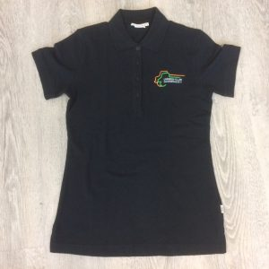 Damen Polo-Shirt black