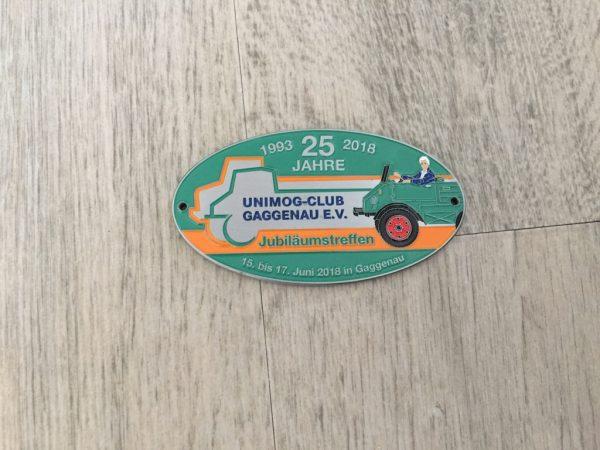 Plakette Jubiläumstreffen 2018