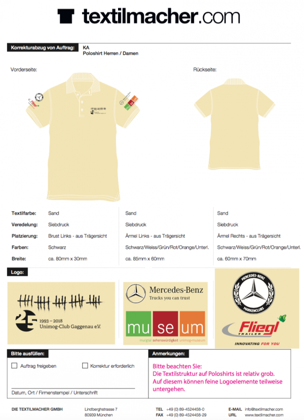 Polo-Shirt Jubiläumsedition beige