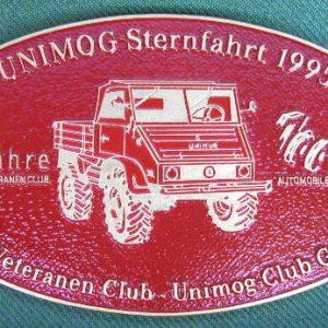 """Plakette """"10-Jahre UVC/UCG"""" Gaggenau rot"""