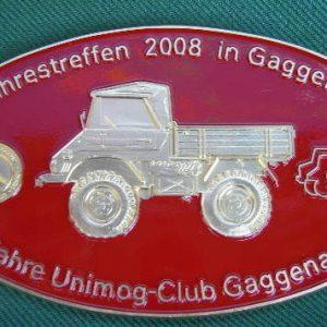 "Plakette ""15-Jahre UCG"" Gaggenau rot"
