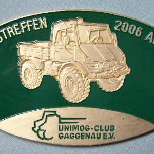 "Plakette ""10-Jahre UVC/UCG"" Gaggenau grün"