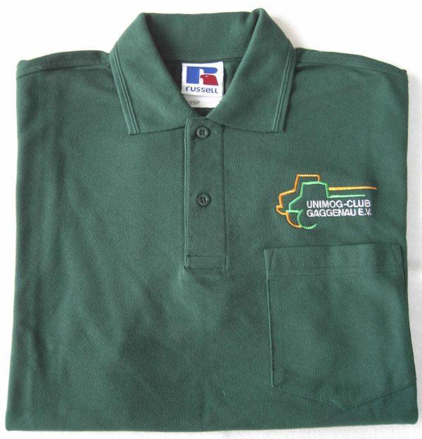 Herren Polo-Shirt bottle-green mit Brusttasche