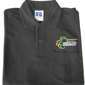 Herren Polo-Shirt black mit Brusttasche