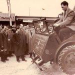 Manfred Florus bei einer Messevorführung, Verona 1953